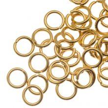 Edelstahl Biegeringe (5 mm Dicke 0.8 mm) Gold (50 Stück)