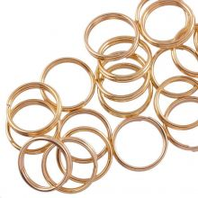 Edelstahl Spaltringe (10 x 1.6 mm) Gold (25 Stück)