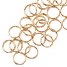 Edelstahl Spaltringe (8 x 1.3 mm) Gold (25 Stück)