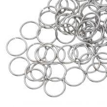 Edelstahl Biegeringe (10 mm Dicke 1 mm) Altsilber (100 Stück)
