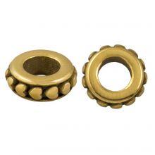 Edelstahl Perlen Großes Loch (10 x 8 mm) Alt Gold (1 Stück)