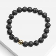 Armband mit Naturstein Perlen (8 mm) Lava (1 Stück)