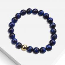 Armband mit Naturstein Perlen (8 mm) Blue Tiger Eye (1 Stück)