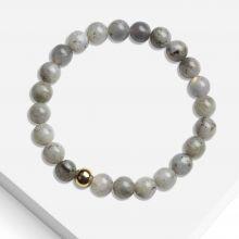 Armband mit Naturstein Perlen (8 mm) Labradorit (1 Stück)