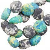 Keramikperlen (16 x 8 mm) Blue Stone (13 Stück)