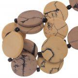Keramikperlen (23 x 3.5 mm) Nude (8 Stück)