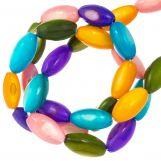 Muschelperlen (11 x 5 mm) Mix Color (40 Stück)