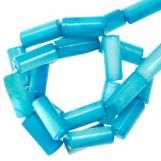 Muschelperlen (10 x 4 mm) Sky Blue (36 Stück)