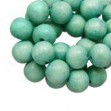 Holzperlen Vintage Look (12 mm) Mint Green (70 Stück)