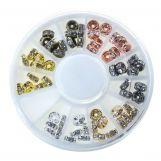 Perlenset - Strasssteinperlen (5 mm) Mix Color (6 x 10 Stück)
