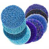 Vorteilspackung - Rocailles (2 mm / 9 x 50 Gramm) 'Mix Color Blue'
