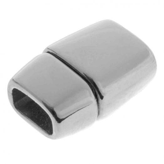 Magnetverschluss (Innenmaß 6 x 3 mm) Altsilber (1 Stück)