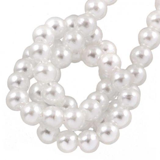 DQ Glaswachsperlen (2 mm) Bright White (150 Stück)