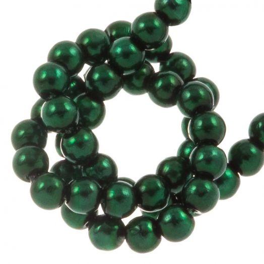 DQ Glaswachsperlen (2 mm) Deep Emerald (150 Stück)