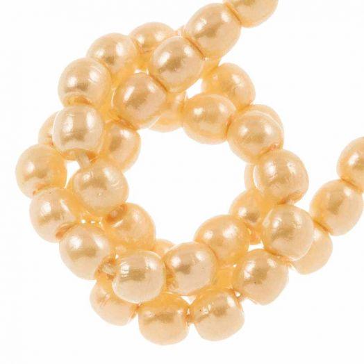 DQ Glaswachsperlen (2 mm) Light Peach (150 Stück)