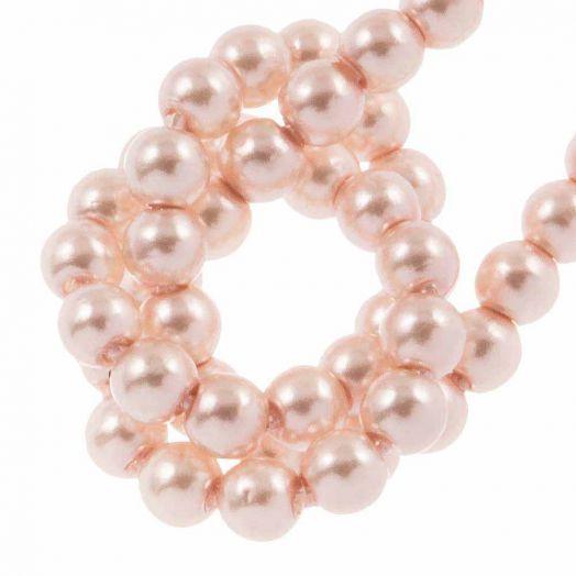 DQ Glaswachsperlen (2 mm) Light Pink (150 Stück)