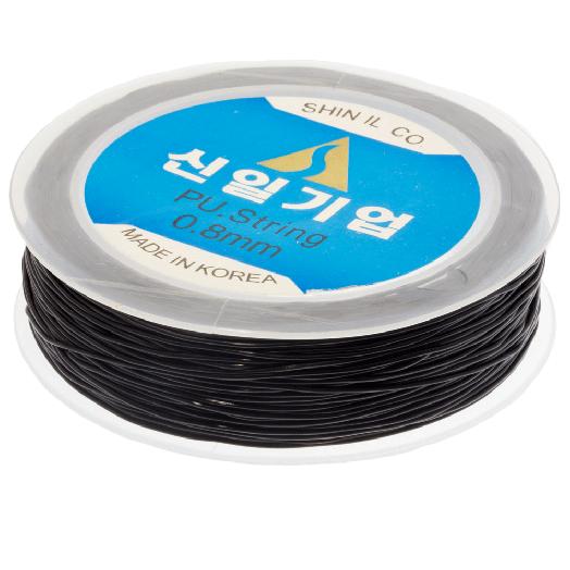 Topqualität Elastikfaden (0.8 mm) 35 Meter (Black)