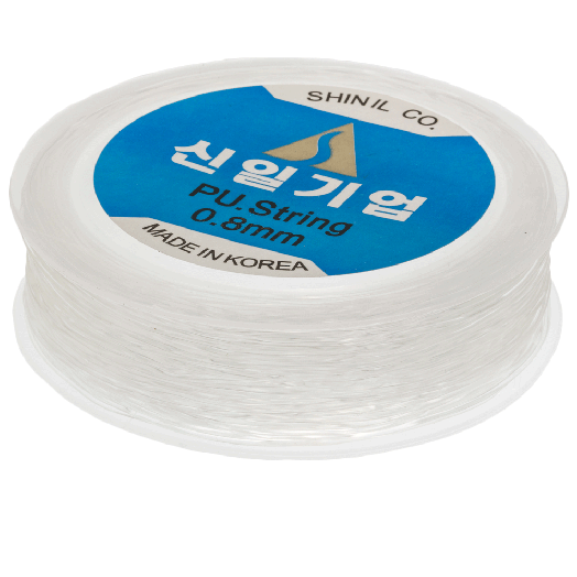 Topqualität Elastikfaden (0.8 mm) 35 Meter (Transparent)