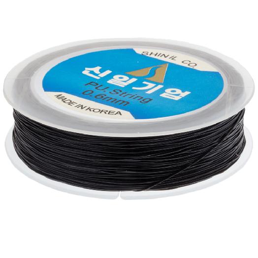 Topqualität Elastikfaden (0.6 mm) 80 Meter (Black)