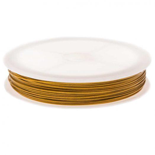 Stahldraht (0.7 mm) Gold (25 Meter)