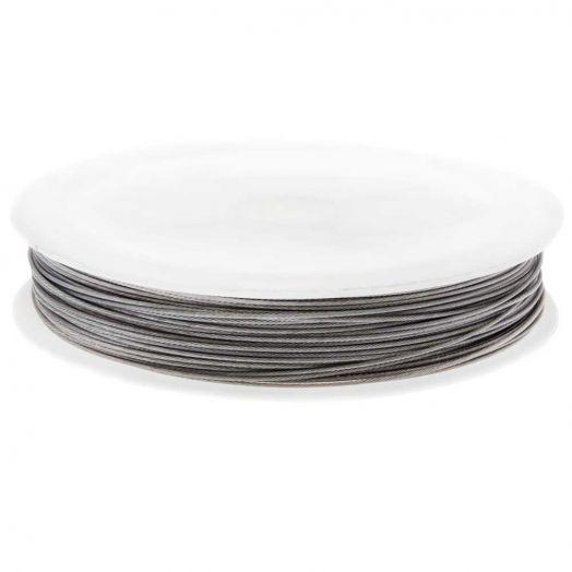 Stahldraht (0.6 mm) Silber (30 Meter)