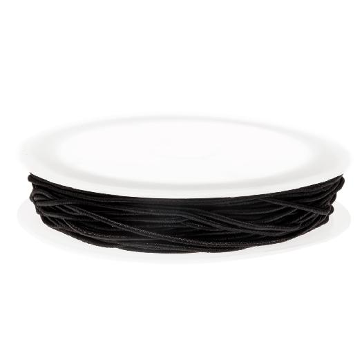 Elastikfaden (0.6 mm) Black (19 Meter)