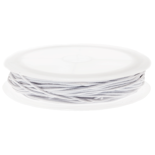 Elastikfaden (1 mm) White (9,5 Meter)