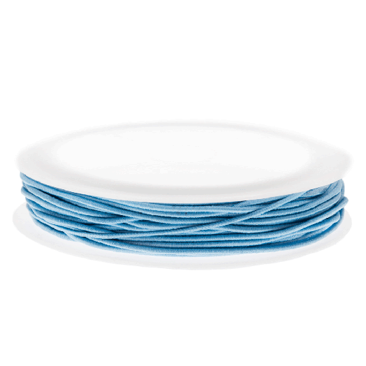 Elastikfaden (1 mm) Light Blue (9,5 Meter)