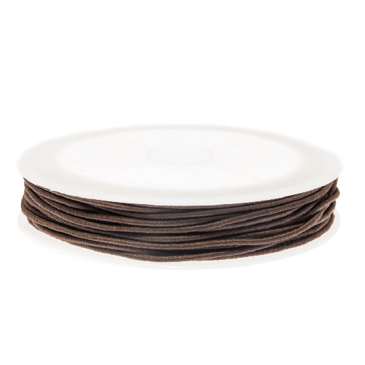 Elastikfaden (1 mm) Chocolate (9,5 Meter)