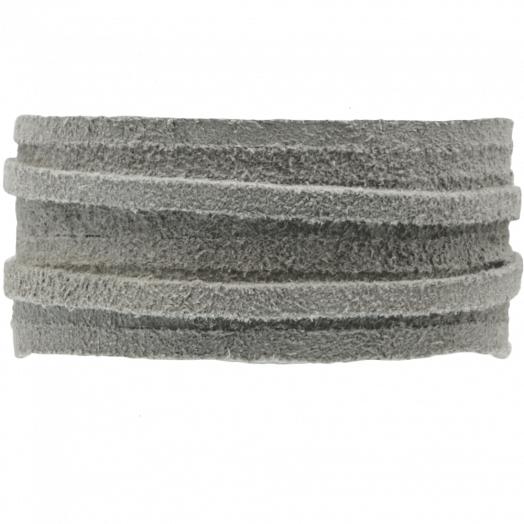 Wildlederband (3 mm) Silver Grey (5 Meter)