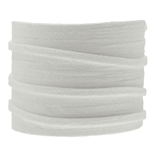 Kunst Wildlederband (3 mm / 1.5 mm) White (5 Meter)