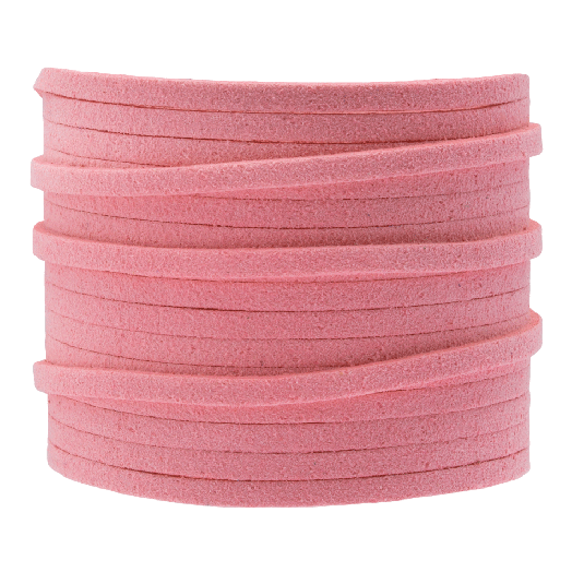 Kunst Wildlederband (3 mm / 1.5 mm) Sweet Pink (5 Meter)
