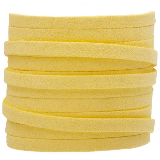 Kunst Wildlederband (5 mm / 1.5 mm) Yellow (5 Meter)