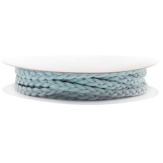 Geflochtenes Kunst Wildlederband (5 mm) Soft Blue (10 Meter)