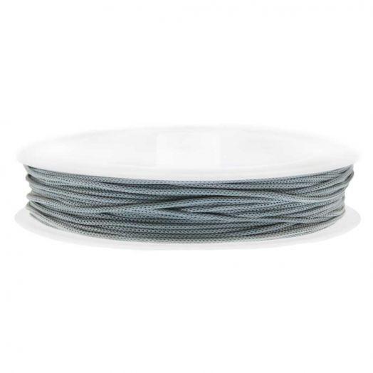Satinschnur (0.8 mm) Cool Grey (20 Meter)