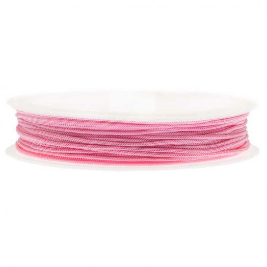Satinschnur (0.5 mm) Strong Pink (25 Meter)