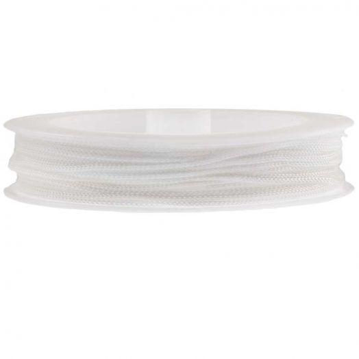Satinschnur (1 mm) White (20 Meter)