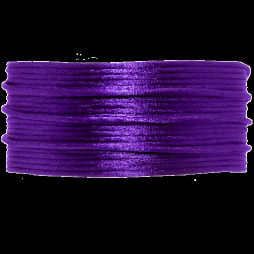 Satinschnur (1 mm) Dark Purple (20 Meter)