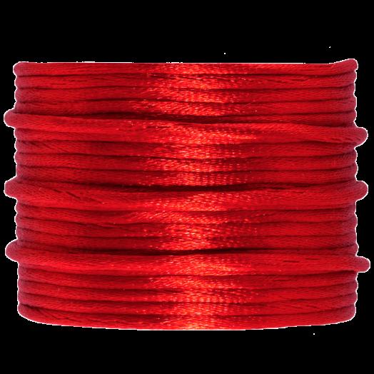 Satinschnur (2 mm) Bright Red (15 Meter)