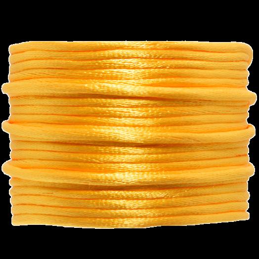 Satinschnur (2 mm) Mango Yellow (15 Meter)