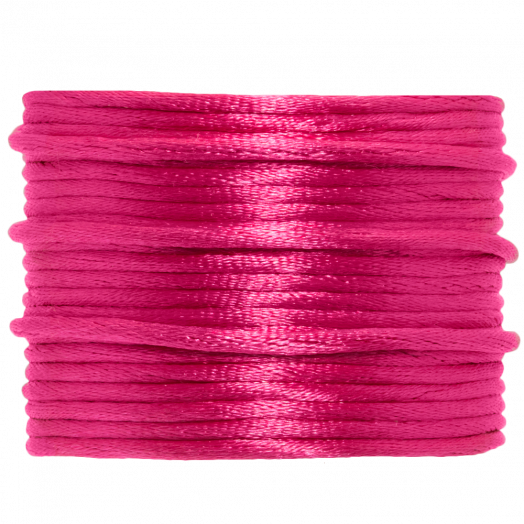 Satinschnur (2 mm) Hot Pink (15 Meter)