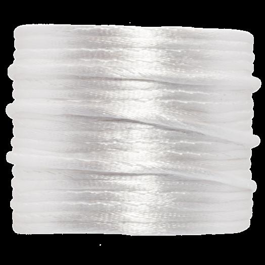 Satinschnur (2 mm) White (15 Meter)