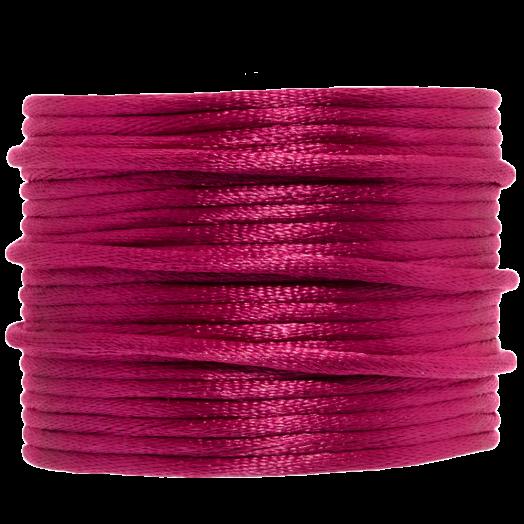 Satinschnur (2 mm) Fuchsia (15 Meter)