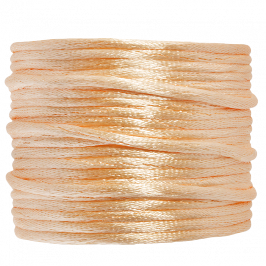 Satinschnur (2 mm) Light Peach (15 Meter)