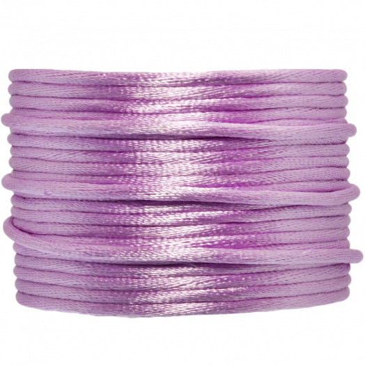 Satinschnur (2 mm) Lilac (15 Meter)