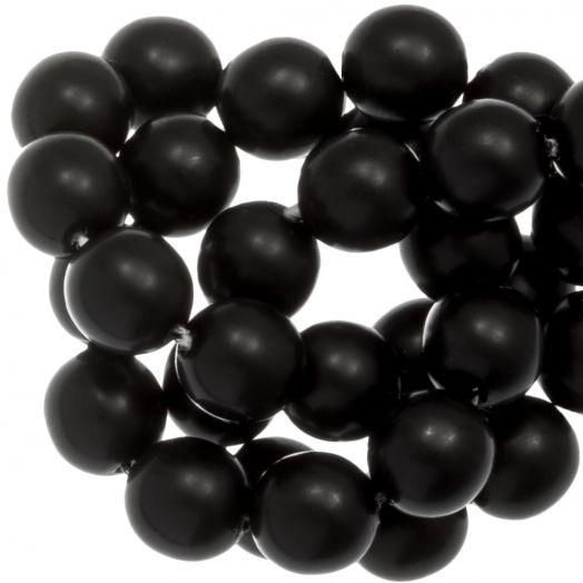 DQ Glaswachsperlen (8 mm) Black Matt (75 Stück)