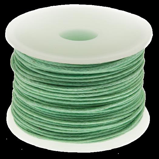 Wachsschnur (0.5 mm) Bright Mint Green (25 Meter)