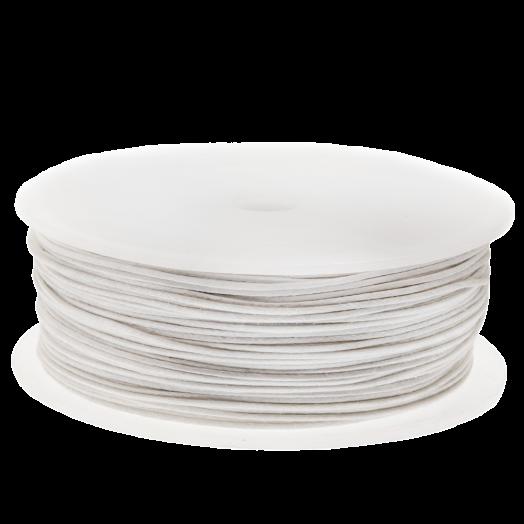Wachsschnur (1 mm) White (25 Meter)