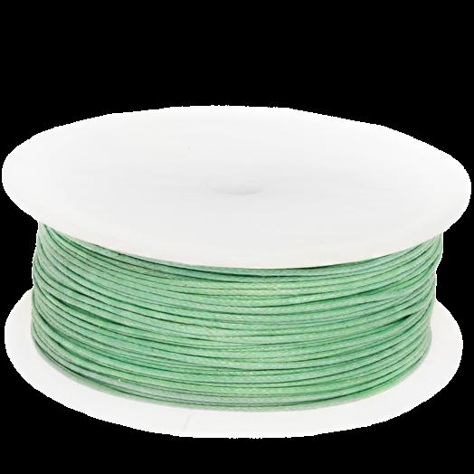 Wachsschnur (0.5 mm) Bright Mint Green (100 Meter)