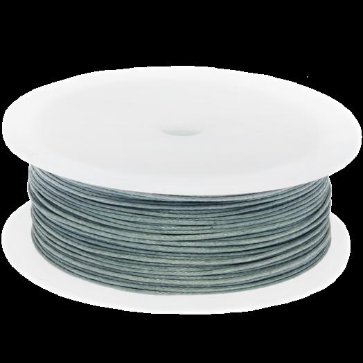 Wachsschnur (0.5 mm) Stone Grey (100 Meter)
